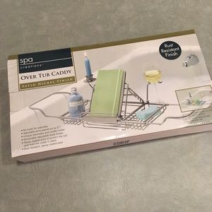 Over the Tub Caddy for Book, Wine, and Candle NIB